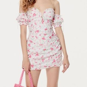 For Love And Lemons Floral Mini Dress